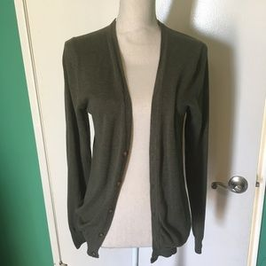 Olive green H&M cardigan size small